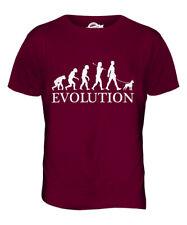 Boston Terrier evolución del hombre para hombres Camiseta Camiseta Top Perro Amante Bull Walker