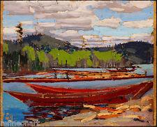 Tom Thomson - Bateaux Giclee Canvas Print