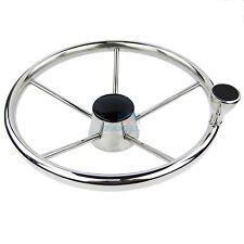 """Boat Marine Steering Wheel Stainless 5 Spoke 25 Degree With Knob 13.5"""" Steering"""