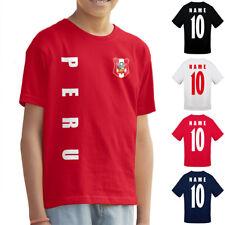 Peru Kinder Trikot Fanshirt T-Shirt WM 2018 Name Nummer