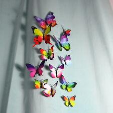 12-pcs 3D Butterfly Home Decor 30 Colours For Net Curtains, Faux Silk,Velvet