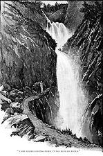 Sherlock Holmes print  Reichenbach Falls by Sidney Paget
