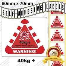 WARNING LABELS 40kg+   MANUAL HANDLING WARNING LABELS LIFTING LABELS