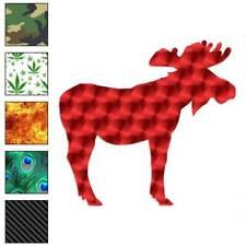 Bull Moose Antlers Decal Sticker Choose Pattern + Size #926