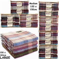 TWEEDMILL TEXTILES British Recycled 100% Wool Picnic Travel Rug Throw Blanket
