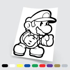 Adesivi in vinile Wall Stickers Prespaziati Super Mario Bros. 24 PC Auto