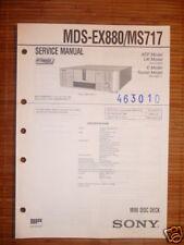 Service MANUAL Sony mds-ex880/ms717 MINIDISC DECK, ORIG