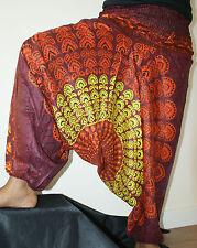 Harén Pantalones para Mandala Pavo Real Alibaba Boho Gitano Yoga Indio Verano Dance Wear