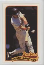 1989 Topps/LJN Baseball Talk #148 Benito Santiago San Diego Padres Card