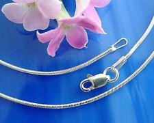 Schlangenkette Silber 925 Längen 40 - 90 cm Halskette Armband Silberkette ka37