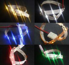 Strisce led 3528 non imper.li cm.20-40-60-80-100-150-200 vari colori DC12 volt