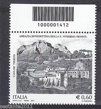 ITALIA 2011 ABBAZIA BENEDETTINA SANT.MA TRINITA' CODICE A BARRE 1412 MNH ** 142