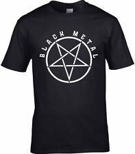 Metal Negro T-Shirt Negro Hombre Pesado muerte Hard Rock Música Satanás Gig T-Shirt