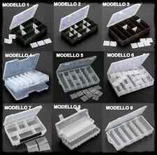 cassette porta accessori pesca scatola artificiali ami girelle cassetta plastica