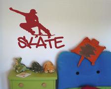 Wandtattoo Skate Skateboard Wandaufkleber Kinderzimmer XXXL 25 Farben 9 Größen
