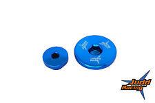 BILLET ALUMINIUM ENGINE PLUG KIT - BLUE for SUZUKI RMZ 250 & KAWASAKI KXF250F