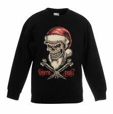 Santa Skull and Cross Bones Christmas Childrens Kids Sweatshirt Jumper