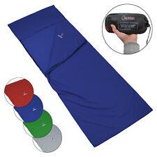 Schlafausrüstung Schlafsack INLET Hüttenschlafsack 225x90 Mumienschlafsack Inlay Baumwolle Blau Camping & Outdoor