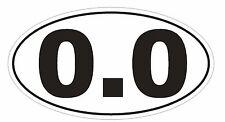 0.0 Marathon Oval Bumper Sticker or Helmet Sticker D154 Laptop Cell Euro Oval
