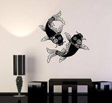 Vinyl Wall Decal Fish Chinese Goldfish Yin Yang Symbol Stickers (998ig)