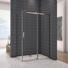 Frameless Sliding Shower Enclosure Glass Screen Door Panel+Tray Strong ZL