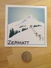 2 x Glossy Vinyl Stickers - Zermatt Snowboard Ski Resort Cool Laptop Decal #0118