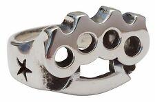 Big Knux Fine Sterling Silver Ring Brass Knuckles Duster Knucks Femme Metale