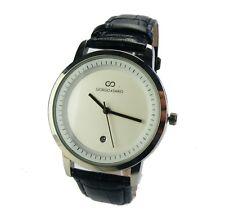 Uhr Damenuhr Chrom Datumsanzeige Quartsuhr graue weisses Ziffernblatt modern DU1