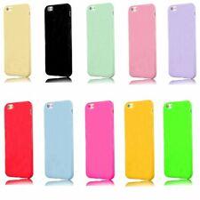 Apple iPhone 4, 5, 5C, 6, 7, 8 Plus, XS, SE Shockproof Glossy Slim Silicone Case
