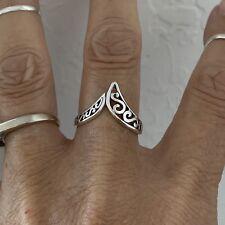 Sterling Silver Filigree V Shape Ring, Silver Rings, Filigree Ring