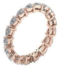 Pear Cut Diamond VVS1 F 1.20 Ct Martini Set Eternity Stackable Ring 14K Gold