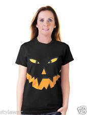Halloween Pumpkin Gothic Black Orange T-Shirt Halloween Fancy Shirts XXXL 24-26