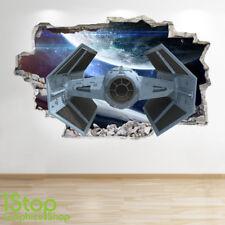 Nave Espacial Pared Adhesivo Ventana 3D Look-Galaxy Stars Niños Dormitorio Calcomanía Z542