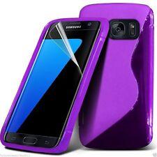 Calidad Ultra Delgado duro Shock Protection S-Gel Piel Cubierta Estuche Teléfono ✔ púrpura