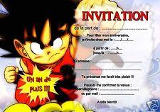 5 ou 12 cartes invitation anniversaire dragon ball REF 397