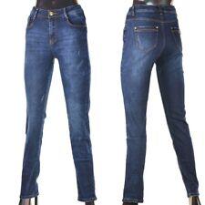 Damen Jeans Hose Winterhose Thermohose Winterjeans Fleece Gefüttert W29-36 Blau4