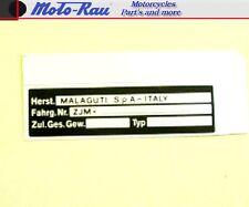 Malaguti Typenschild Aufkleber Roller Motorroller Moped  ZJM