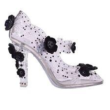 DOLCE & GABBANA Transparent Strass Cinderella Mary Jane BETTE Pumps Heels 06673