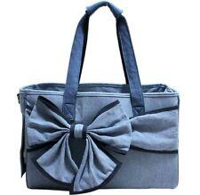 New Blue Denim Pet Dog Cat Carrier Shoulder Bag Handbag Cotton Travel bag M
