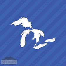 Great Lakes Outline Vinyl Decal Sticker Michigan Superior Huron Erie Ontario
