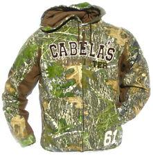 CABELA'S Men's Mossy Oak OBSESSION Camo Heavyweight Zip-UP Deer Hunting Hoodie
