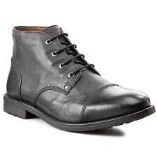 Clarks Mens ** X Faulkner Mid ** Black Lea Boots , Ortholite & Plus ** UK 8,9,10