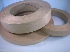 Iron on CHERRY Edging Pre Glued Real Wood Veneer Banding Tape 22mm 30mm 50mm