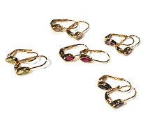 Bijou plaqué or 18 carats boucles d'oreilles dormeuses ogives earrings
