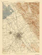Topographical Map Print - San Jose California Quad - USGS 1899 - 23 x 29.75