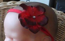 BABY GIRL/CHILD/REBORN DOLL 2 INCH HYDRAGENA FLOWER HEADBAND VARIOUS COLOURS