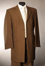 MJ-82 CHOCOLATE BROWN HERRINGBONE PRINCE EDWARD SUIT FORMAL/WEDDING/MORNING