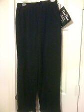 220 Hickory Blair.com black poly velveteen pants elastic waist & 31 inseam