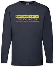 Problem with Maths? Langarm T-Shirt Mathematiker Lehrer Professor Fun Nerd Mathe