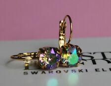 Paradise Shine Leverback Earrings-Swaroski Crystal Elements Choose Your Finish